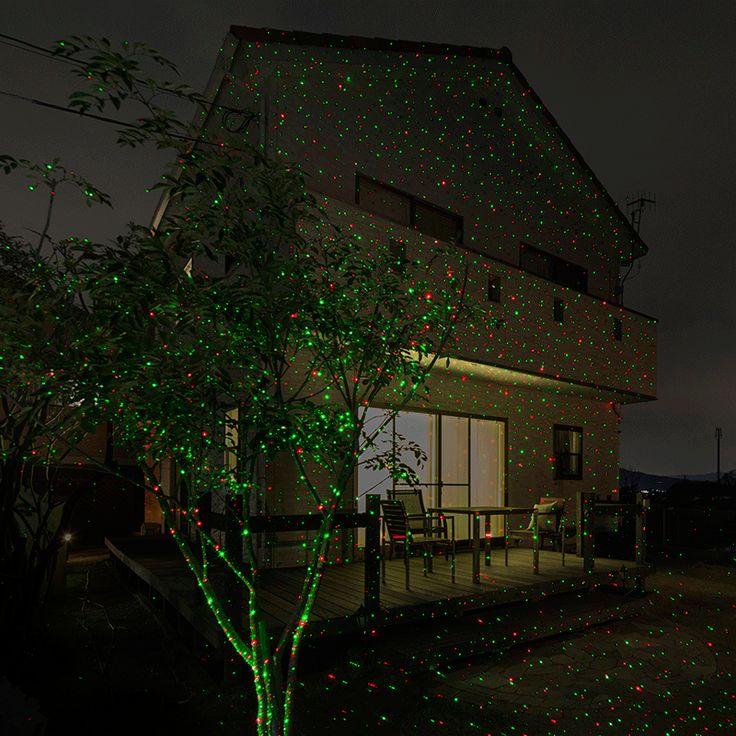 ローボルト ガーデンスターダストレーザーライト レッド&グリーン ガーデンライト/デコレーション照明/ローボルトイルミネーション/プロジェクター 一つのライトで広範囲に光の点を映し出すレーザーライト、ハロウィンの演出に  商品コード43107600 ポイント54 型番 :LLS-01 JANコード :4975149431076 材質 :ABS樹脂、ポリプロピレン、アルミニウム 幅 :約12.6cm 奥行 :約10.6cm 高さ :約12.2cm 重量 :約0.4kg 備考 :●使用環境:屋外/屋内 ●コード全長:約3.0m ●LED色:レッド/グリーン ●LED数:各1球 ●消費電力※LED部のみ:約1W ●地中杭高さ:155mm ●AC/DCアダプター 定格1次 AC100V 50/60Hz 定格2次電圧DC 4.5V 1.33A 最大ワット数6W ●レーザー クラス2