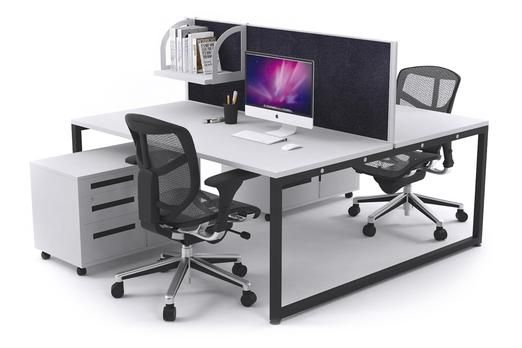 Litewall Evolve Modern Office Workstation Desk. Our two person bench is ideal for optimizing an open office while promoting employee privacy as well as collaboration. It is double-sided with a full-length screen that allows you to personalise your desk and plenty of room for storage addition to keep your desktop neat.