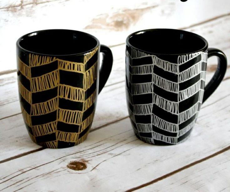 tassen bemalen einfache anleitung und 20 inspirierende diy ideen diys pinterest tassen. Black Bedroom Furniture Sets. Home Design Ideas
