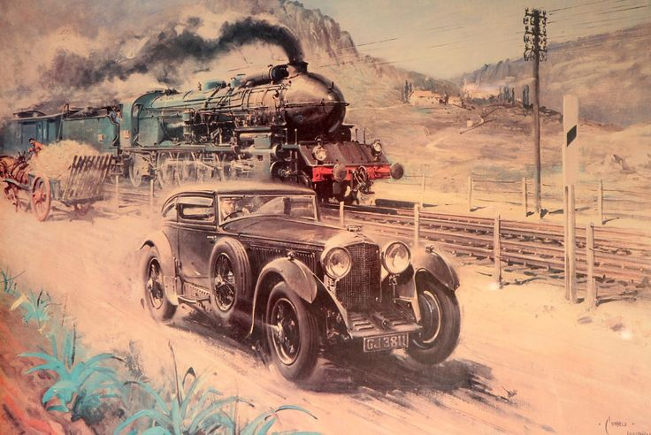 Woolf Barnato and the Legend of the Blue Train.  The Blue Train Races were a series of record-breaking attempts between automobiles and trains in the late 1920s and early 1930s. It saw a number of motorists and their own or sponsored automobiles race against the Le Train Bleu, a train that ran between Calais and the French Riviera.  http://en.wikipedia.org/wiki/Blue_Train_Races