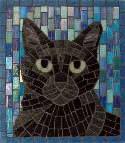 Cat Mosaic, by Moonbug Mosaics