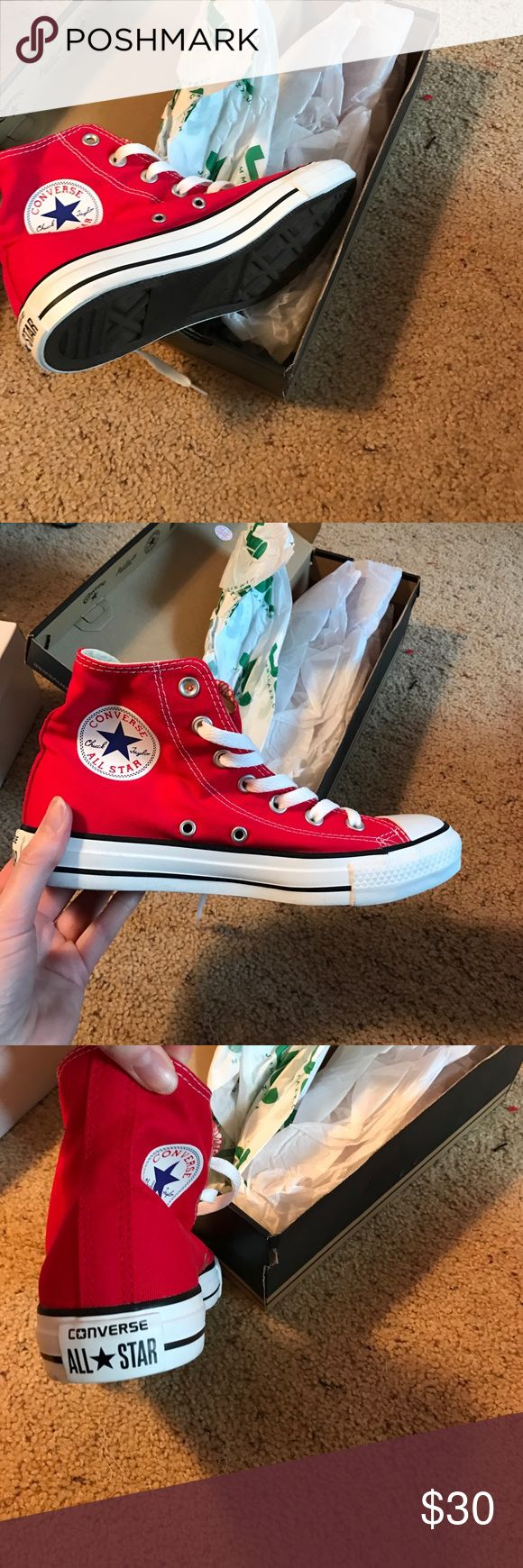 Brand new red high top converse Brand new red high top converse Converse Shoes Sneakers