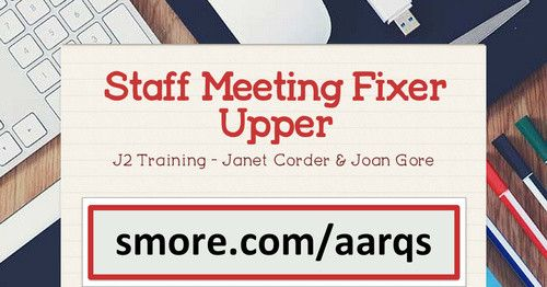 Staff Meeting Fixer Upper | Smore