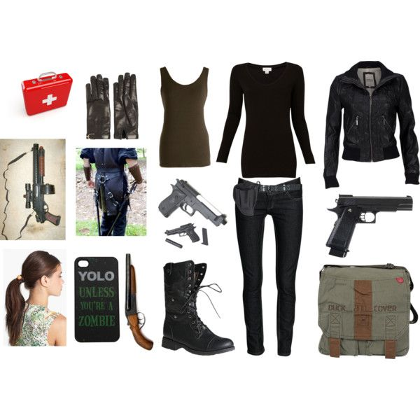 """My Zombie Apocalypse Outfit"" by hpdwm5sh on Polyvore"