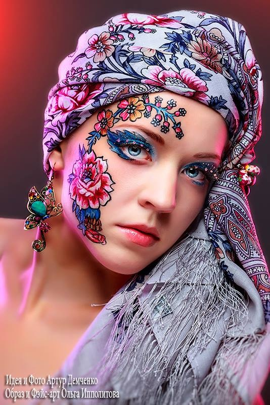 Artur Demchenko Photography | Face Painting | Flowers | Beautiful Colors
