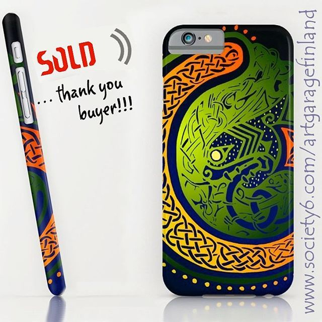 Sold!  ..thanks to person who recently bought this 'Irish Twist' iPhone 6S slim case design from my Society6 webstore. Society6 #shareyoursociety6 #iphone #iphone6s #celticdesigns #celtic #folklore #irish #ireland #society6 #phonecase #iphonecase #legend #oldstyle #instaphone #sold #art #phonecover #iphonecover #slimcase #green #instalike #instaart #artoninstagram #artist #celticknot #irishgifts #apple #appleiphone