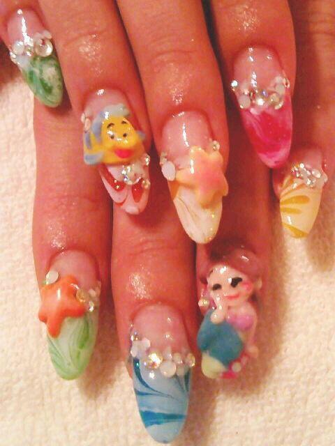 Ariel nail design♡ The Little Mermaid