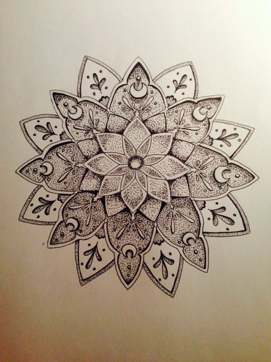 Mandala Designs, aahatfulofhollow: Dotwork My drawing ...