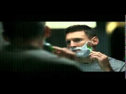 Comercial Messi afeitadora de barba y vigote Gillette Mach 3 - YouTube