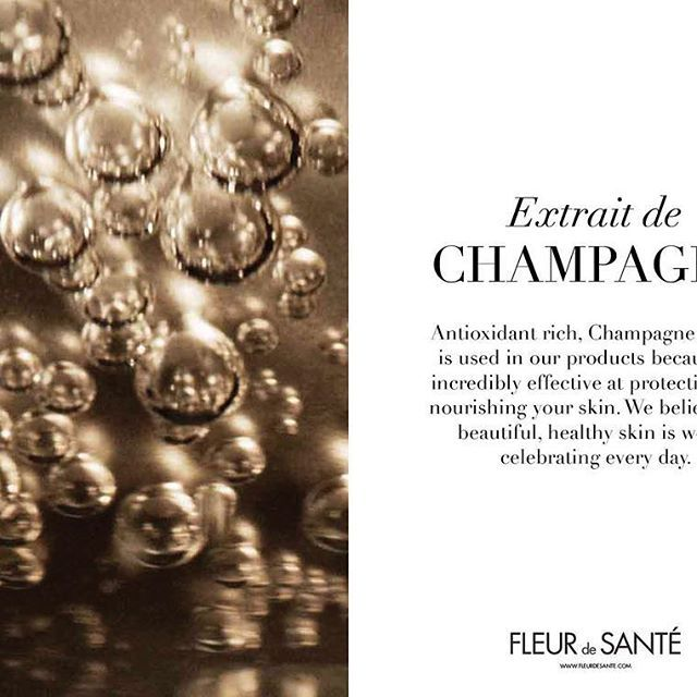 Antioxidant rich, Champagne extract is used in our products because it's incredibly effective at protecting and nourishing your skin. We believe that beautiful, healthy skin is worth celebrating every day.  We invite you to read more here: http://ow.ly/WAyI308wKMj  #fleurdesante #texture #champagne #airless #airlessbottles #luxuryskincare #beauty #skincare #skincareroutine #nature #flower #phytostemcell #newproduct #newskincare #luxurybrand #daycream #serum #nightcream