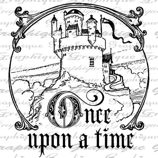 Once Upon A Time Words: Once Upon A Time Words Castle Text Word Calligraphy