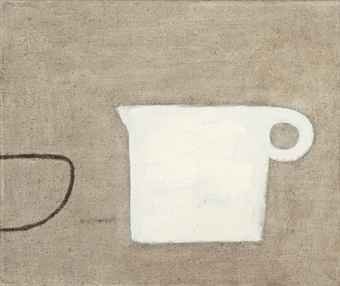 William Scott, Poem for a Jug, No. 9, 1979–80, Oil on canvas, 25.5 × 30.5 cm / 10 × 12 in