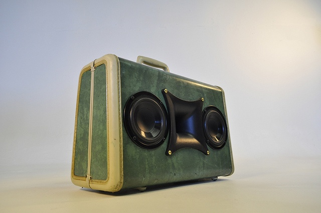 #recycled suitcase made #bass