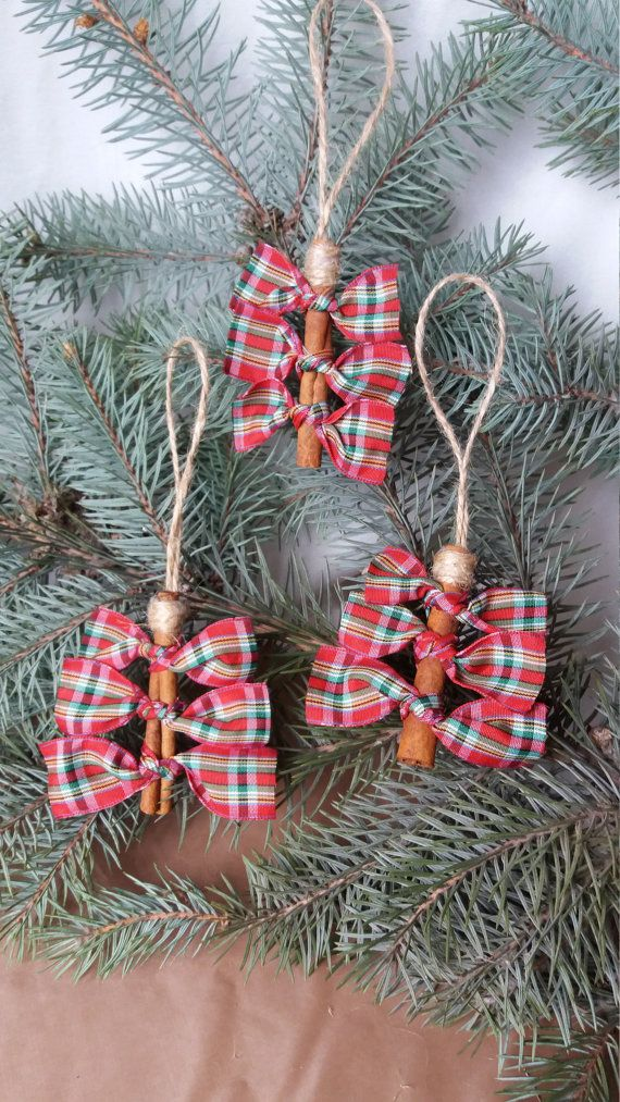 Cinnamon Christmas ornament , Cinnamon Stick Tree Ornaments, Primitive Christmas ornament, Christmas cinnamon decoration