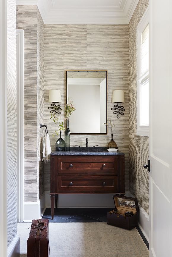 Formal Powder J Tribble Vanity I Love The Sconces And The Style