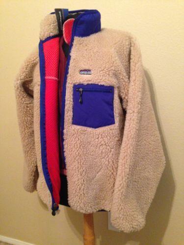 NWT DEAD STOCK VTG Patagonia Retro X DEEP PILE fleece jacket USA OATMEAL natural