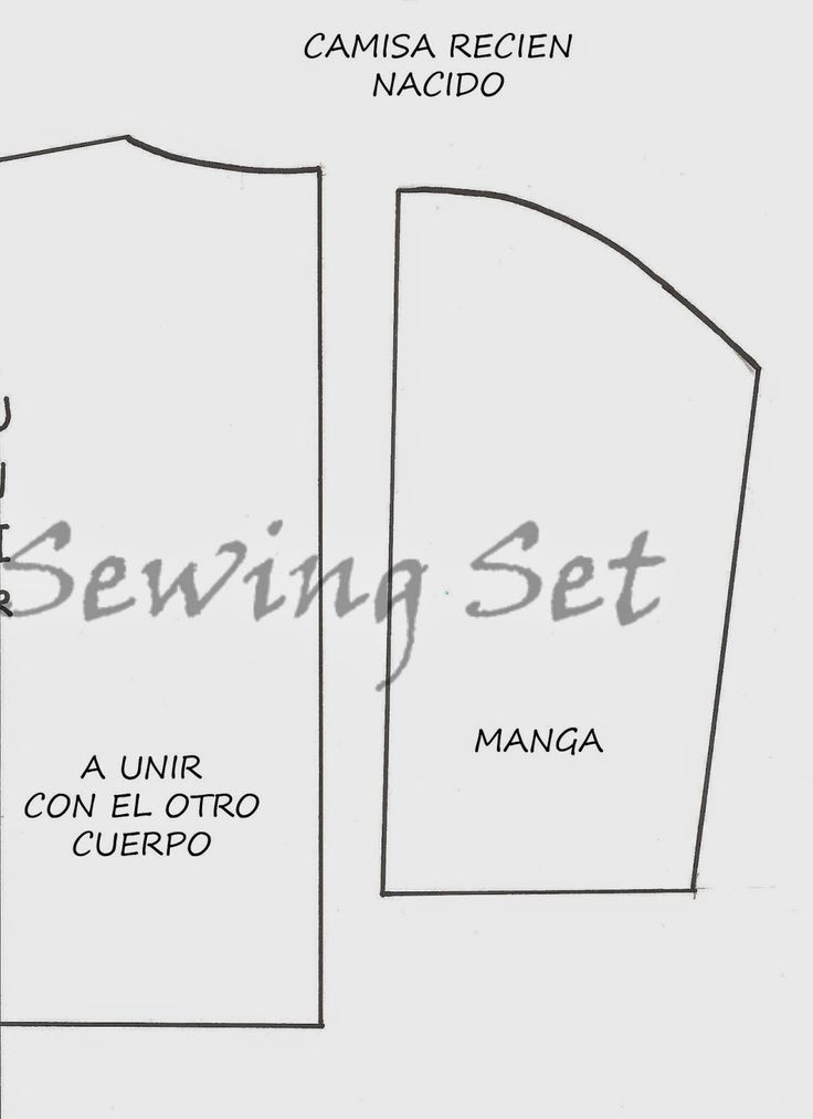 Hola! aquí vengo de nuevo con el patrón de la camisita de recién nacido, es una costura muy fácil para empezar, lo primero porque se gasta p...