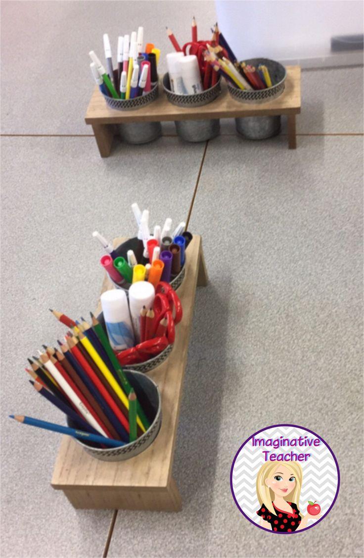 Organising Student Desk Supplies Classroom Pencil Pots