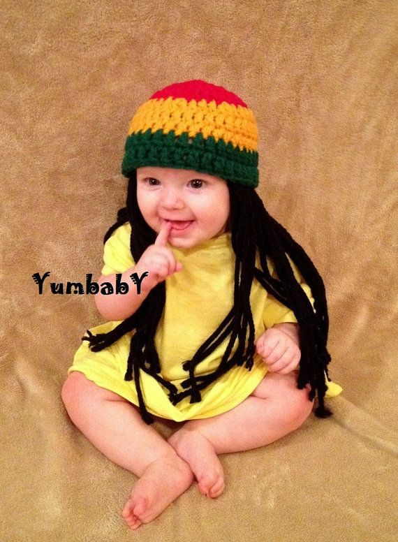 Baby Hats Rasta hat Photo Props Toddler Costume Beanie by YumbabY, $17.95