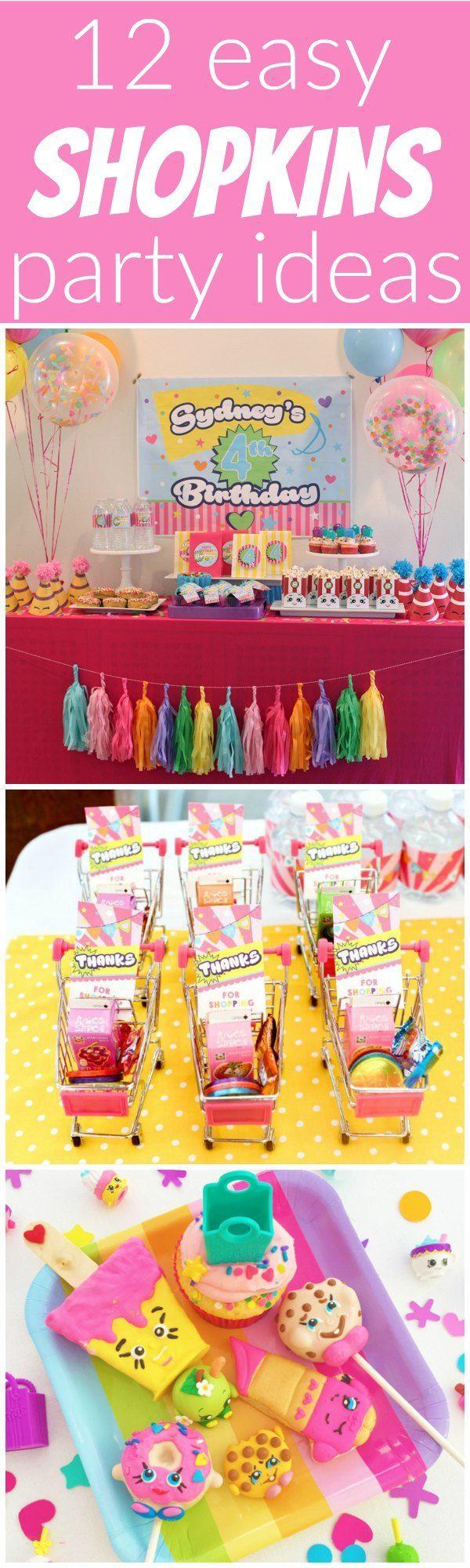 12 Easy Shopkins Party Ideas