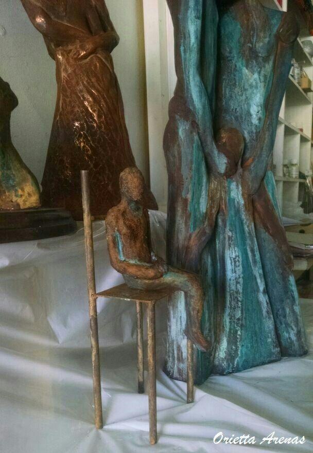 Esculturas oxidadas. Orietta Arenas.