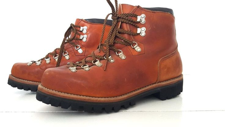 Vintage Red Wing Hiking Boots Size 10 Irish Setter Mountaineer Vibram Leather #RedWing #HikingTrail