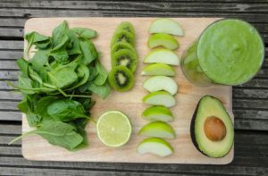Day 3 #greenvegchallenge This smoothie has about 10 grams of fibre (40% of a females requirement) and over 100% of the daily recommended vitamin C intake for males and females (kiwi is a great source).