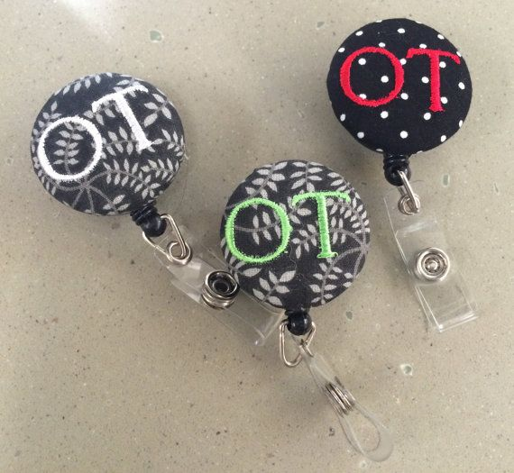 Super cute ID reel badges! They also make custom ones! #Occupational Therapy #badgeclips#idbadge
