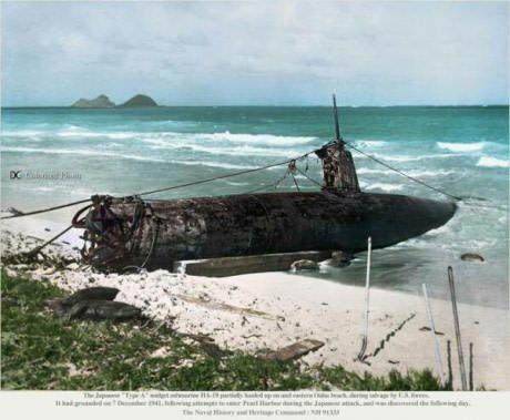 Uploading a warship picture everyday #39 wreck of the japanese midget submarine HA-19