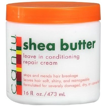 Cantu Shea Butter is a thick, creamy leave-in conditioner that helps combs easily glide through detangled strands. Made with pure shea butter, it works to repair damaged hair and maintain healthy locks.