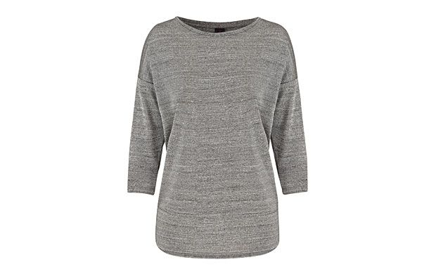 "Metallic Jersey Jumper. ""Add a touch of luxe to your wardrobe with this metallic, lightweight top - the perfect layering piece."""