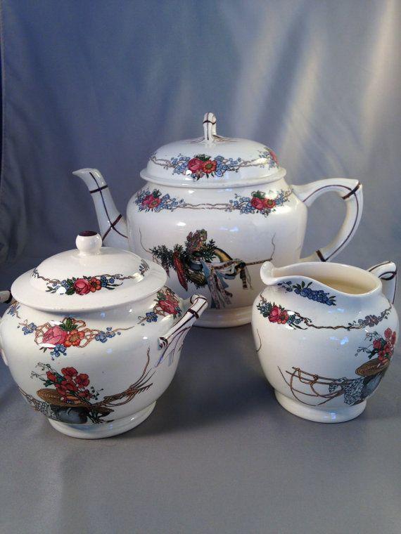 Obernai U&Cie Sarreguemines Sugar Bowl / Creamer and Loux ...