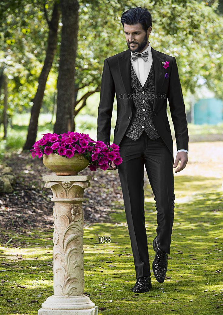 Abito da sposo Demi-Tight in ottoman nero