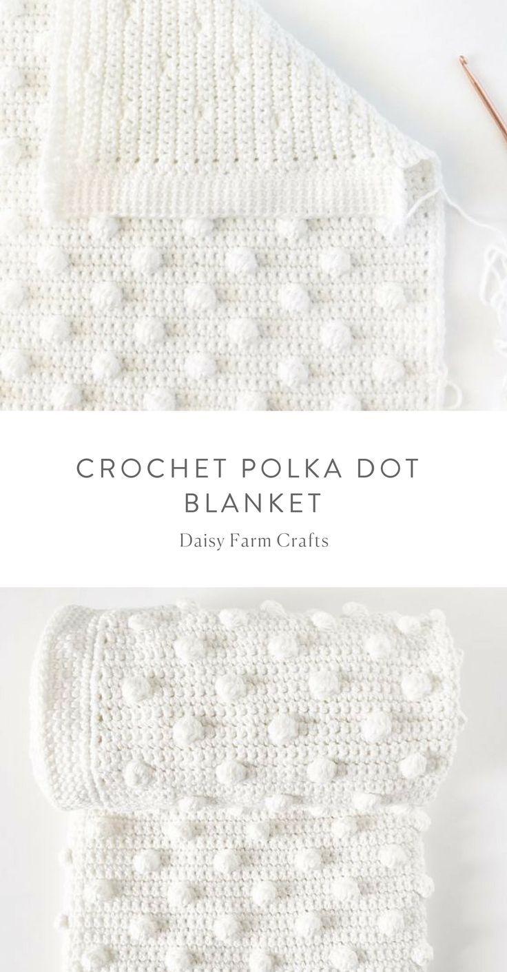0634ac146a5fe Free Pattern - Crochet Polka Dot Blanket #crochet   Tameka   Crochet ...