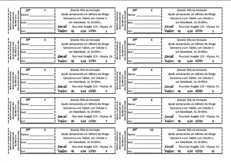 Hoja De Rifa 100 Numeros Para Imprimir Car Tuning