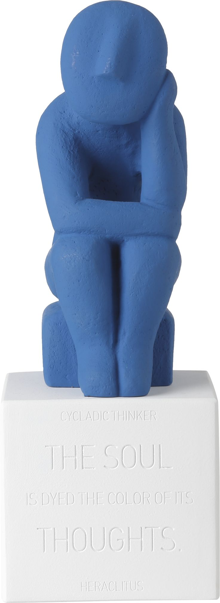 Cycladic Thinker Extra Large. Material: Ceramine Color: Royal blue