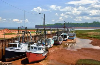 Bay of Fundy Tides- saw this on the way to Cape Split from camping at Blomidon St. Park