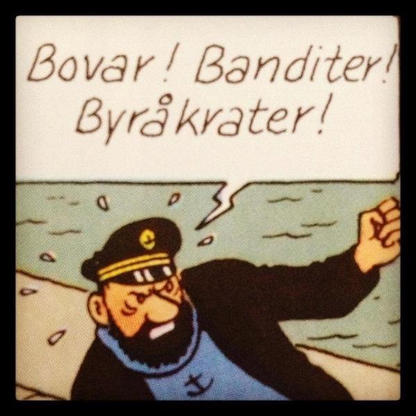 Det har äntligen gått att nå Kapten Haddock för en kommentar #tintingate