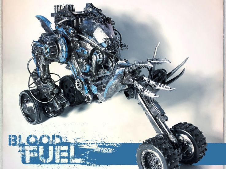 ArtStation - Toxic Racer, Blood Fuel Custom Mech Kit-bash, Custom Toy, Articulated Sculpture, Hand painted and weathered, Created and Designed by Caleb Prochnow, concept design, visual development