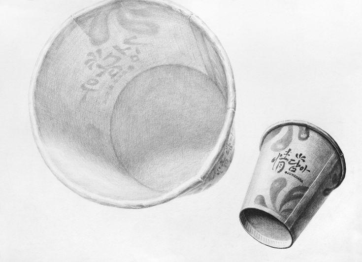 달동네 그림연구실 :: [기초개체연습] 사과, 종이컵, 주사위