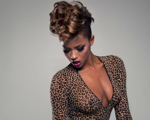 Check out the touches of dark brown blending with the jet-black hair strands in this short hairstyle for black women. Description from slodive.com. I searched for this on bing.com/images