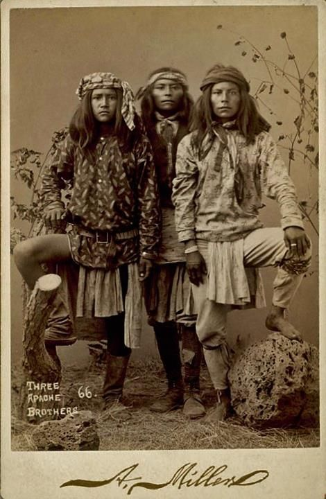Apache Brothers-circa 1888  http://www.facebook.com/pages/Native-American-Indian-Old-Photos/10150102703945578
