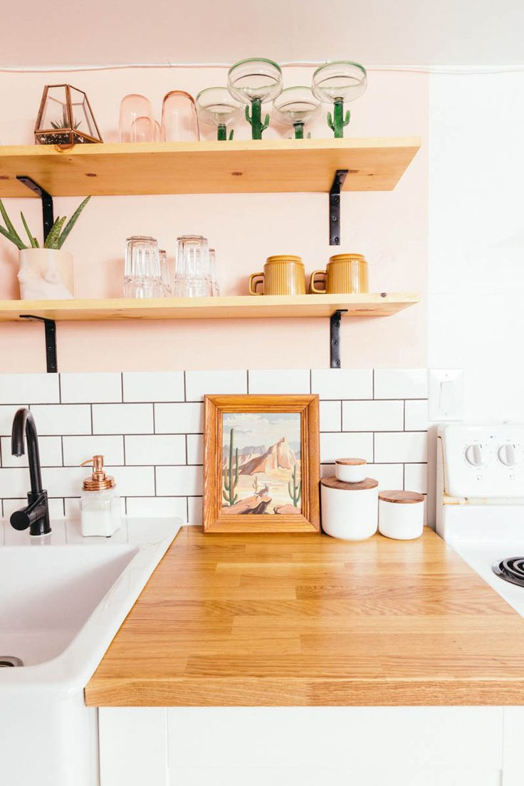 Before & After: A Toronto Rental's Peachy Kitchen Remodel | Design*Sponge