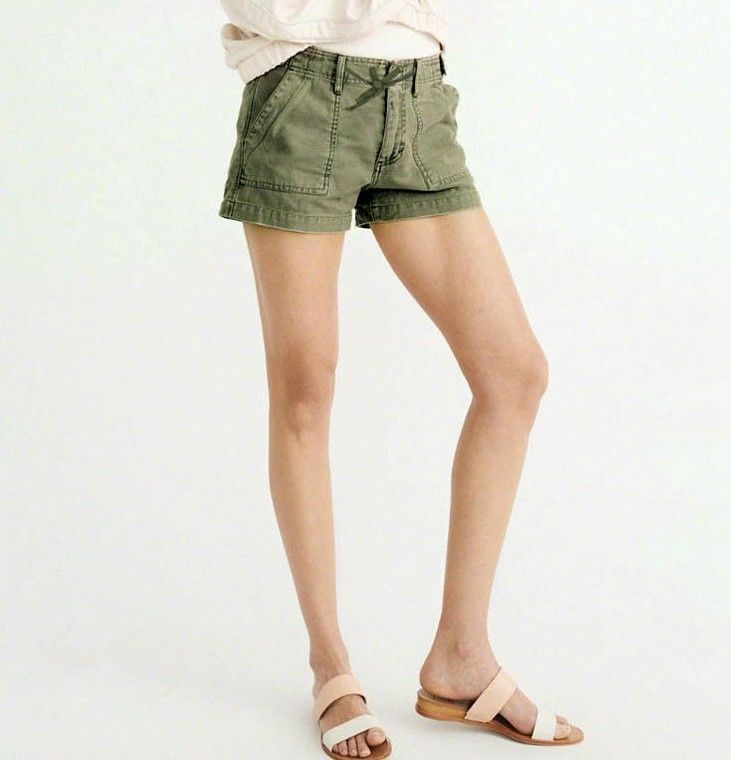 Abercrombie Fitch Accessories Abercrombie Fitch Womens: Abercrombie & Fitch AF Womens Utility Military Shorts