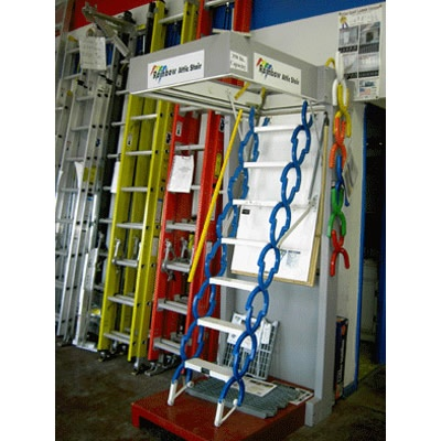 Remote controlled all steel pull down attic stairs, insulated - available in crazy colors!  Look like the sturdiest version going.