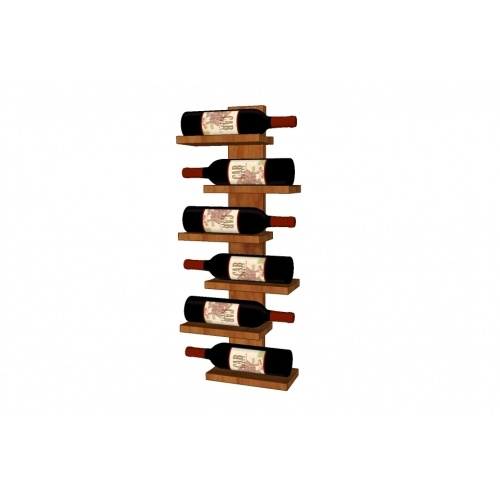 Wall mounted shelf wine rack for 6 bottles. Made of solid dark walnut or cherry wood.   www.pinowood.ca