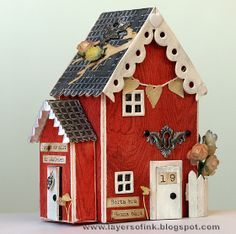 Design team member Anna-Karin Evaldsson shared this fun project on her blog featuring lots of fun Sizzix dies, including @Eileen Hull 's 3D House Die. You can find the tutorial here: http://layersofink.blogspot.com/2012/06/where-heart-is-tutorial-3d-house.html