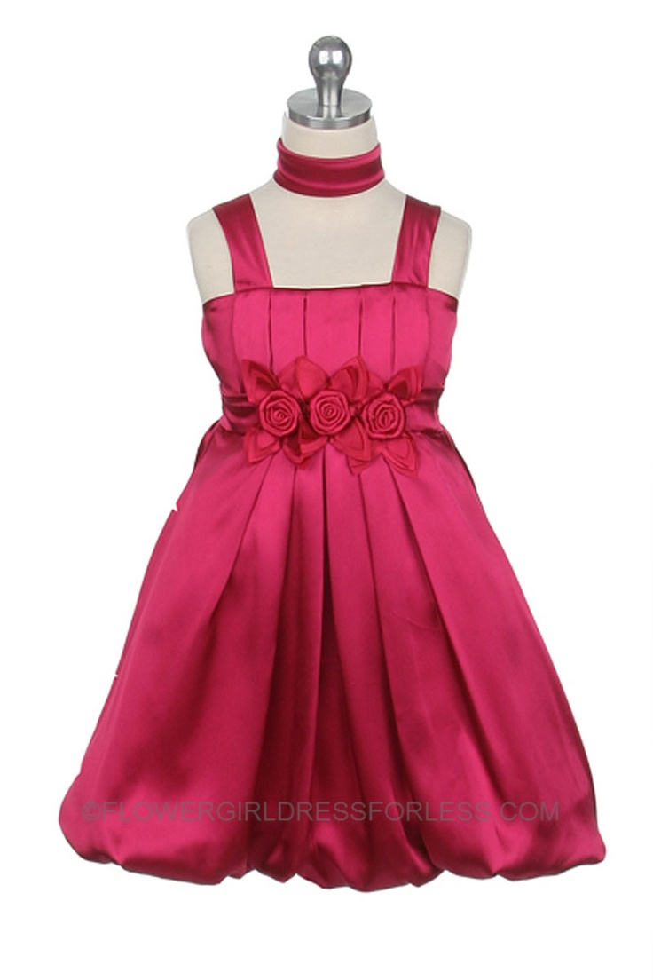 The 17 Best Hot Pink Flower Girl Dresses Images On Pinterest