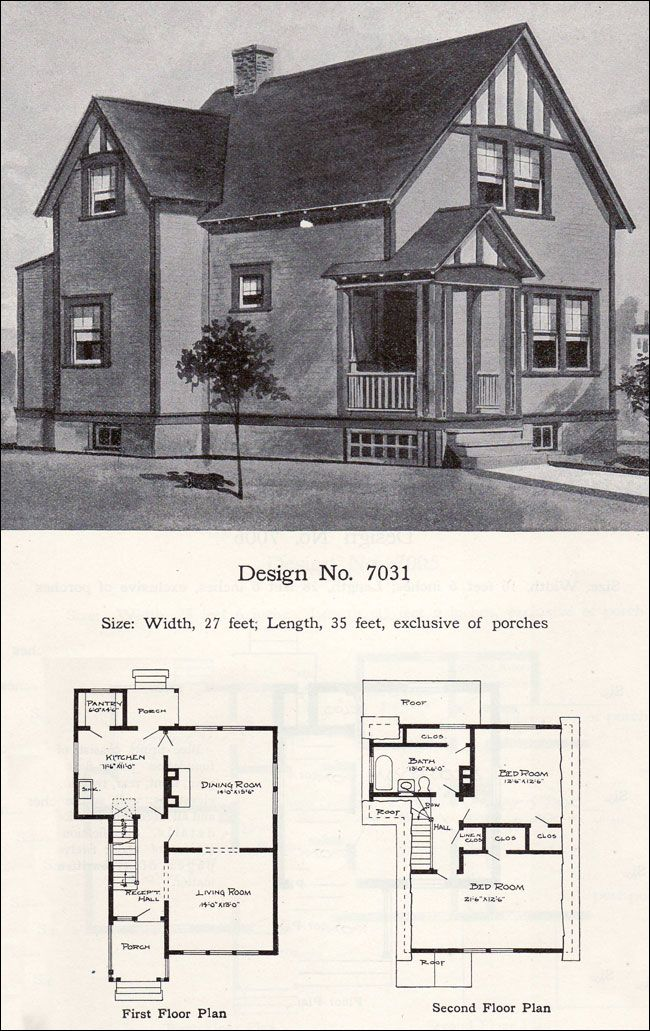 214 best images about vintage house plans 1900s on pinterest for Tudor revival house plans