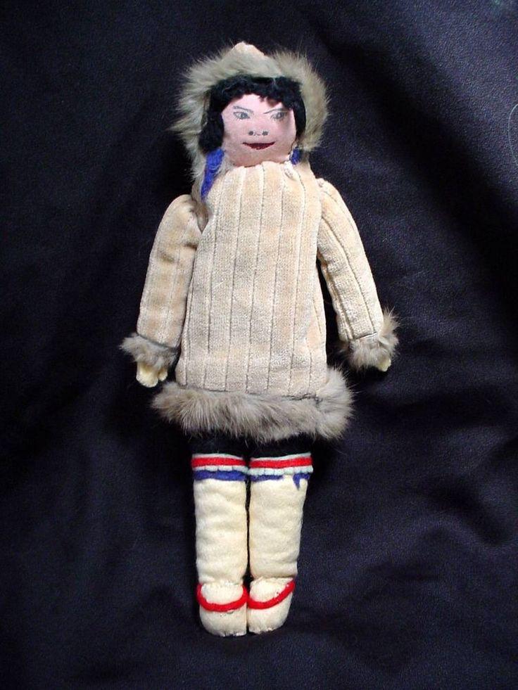 Vintage Eskimo Doll Inuit Eskimo Canadian Handmade Eskimo